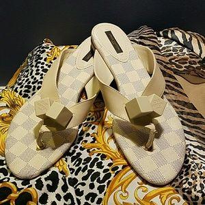 Louis Vuitton Damier Azur Logo Dice Sandals